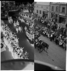 Dożynki - parada na obecnej ul. Garncarskiej