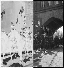 Słupsk, przejazd huzarów pod Nową Bramą - wydarzenie niezidentyfikowane