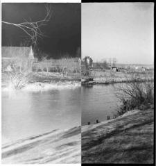 Słupsk, dawne koryto rzeki Słupi widziane z okolicy obecnej ul. Orzeszkowej