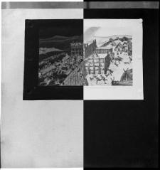 Grafika przedstawiająca najazd na grodzisko w tysiącleciu przed naszą erą - reprodukcja