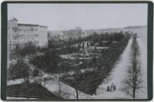 Widok parku pomiędzy dzisiejszymi alejami Sienkiewicza od strony południowej