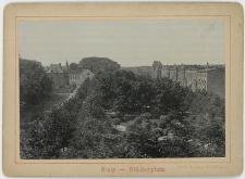 Widok parku pomiędzy dzisiejszymi alejami Sienkiewicza (Blücherplatz) od strony północnej
