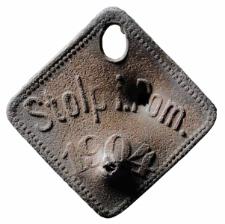 Psi numerek miasta Słupska z 1904 roku, nr 301