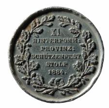 Medal wybity z okazji XI Święta Strzeleckiego Pomorza Tylnego