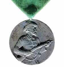 Medal wybity z okazji XXII Święta Strzeleckiego Pomorza Tylnego, które odbyło się w Słupsku w dniach 9, 10 i 11 czerwca 1912 roku.