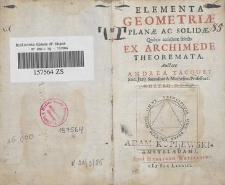 Elementa geometriae planae ac solidae : quibus accedunt selecta ex Archimede theoremata