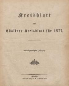 Kreisblatt des Cösliner Kreises 1877
