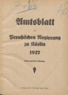 Amtsblatt der Preuβischen Regierung zu Köslin 1927