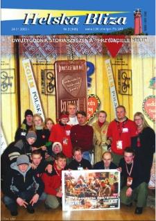 """Helska Bliza : dwutygodnik Stowarzyszenia """"Przyjaciele Helu"""", 2003, nr 2"""