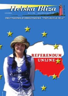 """Helska Bliza : dwutygodnik Stowarzyszenia """"Przyjaciele Helu"""", 2003, nr 11"""