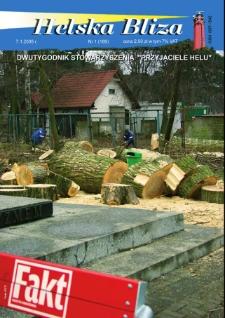 """Helska Bliza : dwutygodnik Stowarzyszenia """"Przyjaciele Helu"""", 2005, nr 1"""