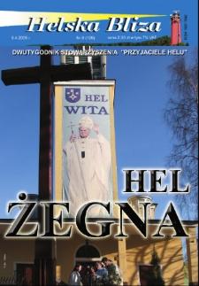 """Helska Bliza : dwutygodnik Stowarzyszenia """"Przyjaciele Helu"""", 2005, nr 8"""