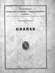 Gdańsk : zagadnienia prawno-polityczne