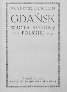 Gdańsk : wrota Korony Polskiej