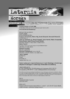 Latarnia Morska : pomorski magazyn literacko-artystyczny, 2008, nr 2