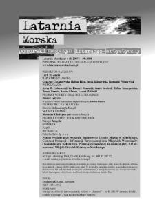 Latarnia Morska : pomorski magazyn literacko-artystyczny, 2007, nr 4, 2008, nr 1