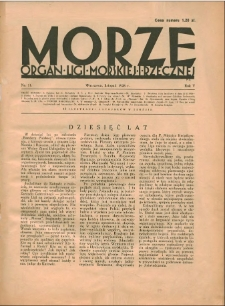 Morze : organ Ligi Morskiej i Rzecznej, 1928, nr 11
