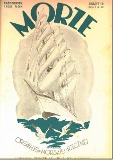 Morze : organ Ligi Morskiej i Rzecznej, 1928, nr 10