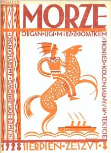 Morze : organ Ligi Morskiej i Rzecznej, 1928, nr 8