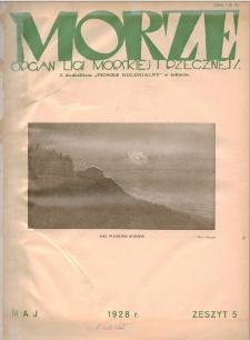 Morze : organ Ligi Morskiej i Rzecznej, 1928, nr 5