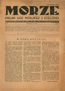 Morze : organ Ligi Morskiej i Rzecznej, 1928, nr 2