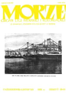 Morze : organ Ligi Morskiej i Kolonialnej, 1931, nr 10-11
