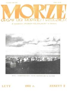 Morze : organ Ligi Morskiej i Rzecznej, 1931, nr 2
