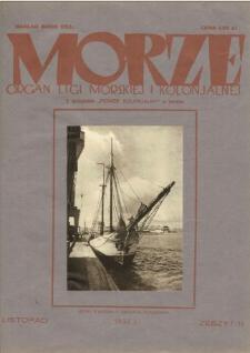 Morze : organ Ligi Morskiej i Kolonialnej, 1932, nr 11