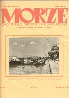 Morze : organ Ligi Morskiej i Kolonialnej, 1932, nr 5