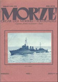 Morze : organ Ligi Morskiej i Kolonialnej, 1932, nr 3