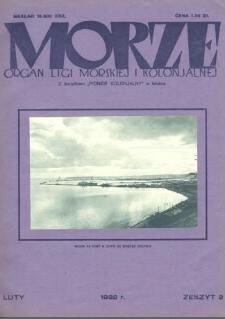 Morze : organ Ligi Morskiej i Kolonialnej, 1932, nr 2