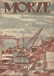 Morze : organ Ligi Morskiej i Kolonialnej, 1933, nr 3