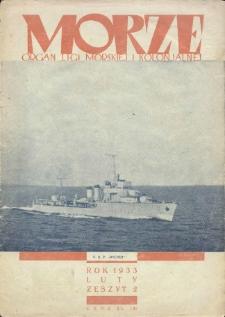 Morze : organ Ligi Morskiej i Kolonialnej, 1933, nr 2