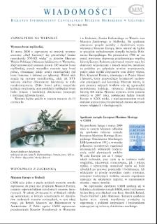 Wiadomości CMM : Biuletyn Informacyjny Centralnego Muzem Morskiego w Gdańsku, 2004, nr 2