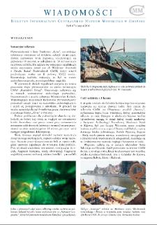 Wiadomości CMM : Biuletyn Informacyjny Centralnego Muzem Morskiego w Gdańsku, 2004, nr 8