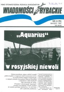 Wiadomości Rybackie : pismo Stowarzyszenia Rozwoju Rybołówstwa, 1997, nr 3
