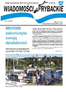 Wiadomości Rybackie : pismo Morskiego Instytutu Rybackiego w Gdyni, 2005, nr 9-10