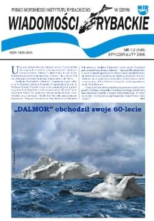 Wiadomości Rybackie : pismo Morskiego Instytutu Rybackiego w Gdyni, 2006, nr 1-2