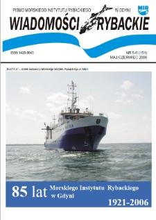 Wiadomości Rybackie : pismo Morskiego Instytutu Rybackiego w Gdyni, 2006, nr 5-6