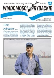 Wiadomości Rybackie : pismo Morskiego Instytutu Rybackiego w Gdyni, 2006, nr 3-4