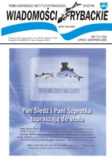 Wiadomości Rybackie : pismo Morskiego Instytutu Rybackiego w Gdyni, 2006, nr 7-8