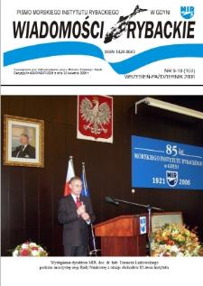 Wiadomości Rybackie : pismo Morskiego Instytutu Rybackiego w Gdyni, 2006, nr 9-10