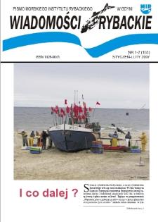 Wiadomości Rybackie : pismo Morskiego Instytutu Rybackiego w Gdyni, 2007, nr 1-2