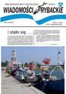 Wiadomości Rybackie : pismo Morskiego Instytutu Rybackiego w Gdyni, 2007, nr 7-8