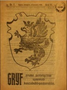 Gryf : pismo poświęcone sprawom kaszubsko-pomorskim, 1922, nr 7