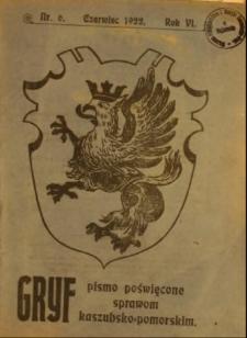Gryf : pismo poświęcone sprawom kaszubsko-pomorskim, 1922, nr 6