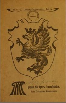 Gryf : pismo dla spraw kaszubskich : organ Towarzystwa Młodokaszubów, 1912, nr 11-12