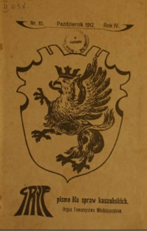 Gryf : pismo dla spraw kaszubskich : organ Towarzystwa Młodokaszubów, 1912, nr 10