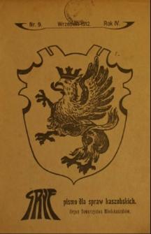 Gryf : pismo dla spraw kaszubskich : organ Towarzystwa Młodokaszubów, 1912, nr 9