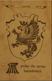 Gryf : pismo dla spraw kaszubskich, 1912, nr 7